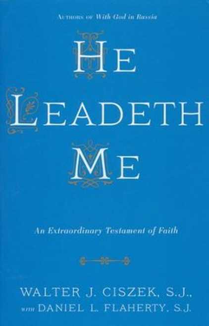 """He Leadeth Meis a deeply personal story of one man's spiritual odyssey and the unflagging faith which enables him to survive the ordeal that wrenched his body and spirit to near collapse. Captured by a Russian army during World War II and convicted of being a """"Vatican spy,"""" Jesuit Father Walter J. Ciszek spent 23 agonizing years in Soviet prisons and the labor camps of Siberia. It was there, despite the harsh conditions, loneliness, and pain, that he discovered an inner serenity and the ability to dedicate his life to God in a way few discover."""