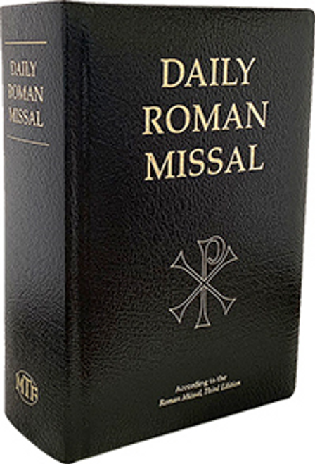 Daily Roman Missal, 7th Ed., Standard Print (Bonded Leather, Black) Midwest Theological Forum