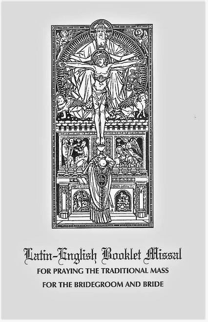 Latin-English Nuptial Booklet Missal , Coalition Ecclesia Dei, 1962 missal