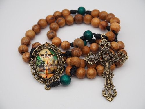 Natural Olive Wood Rosary, Crucifixion, Handmade, High-Quality, Strong Rosary, Won't Come Apart Like Traditional Rosaries