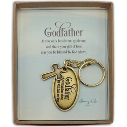 Godfather Keychain Baby Baptism Mothers Day God Parents fathers day