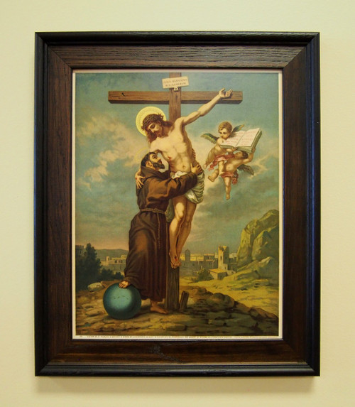 """Vision of St. Francis of Assisi 11"""" x 14"""" Sacred Print (Only) Stigmata Wounds of Christ Crucifix Crucifixion Jesus World"""