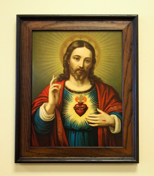 """Sacred Heart of Jesus 11"""" x 14"""" Sacred Print (Only) Passion Wounds Holy"""