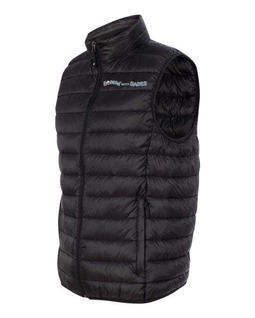 Weatherproof 32 deg. Packable down vest - Black with Boobin text