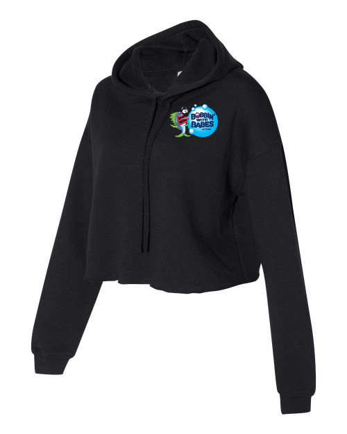 Cropped Fleece Hoodie 7502 - Black - Bobbin Logo