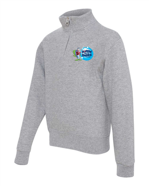 Kids Pull over Gray- 3981 - Logo Lft chest