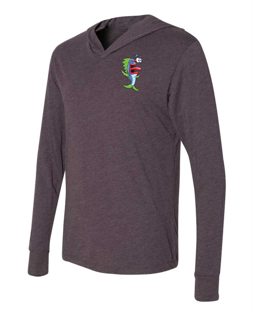 Tri-blend Long sleeve hooded 6021 - Gry -color MOMO