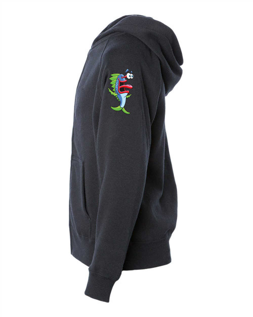 Youth Ragland Zip Hoodie blk gray - color MOMO LFT wrist