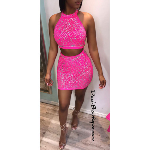 hot pink, two piece