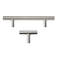 Stainless Steel Kitchen Cabinet Handles T Bar Pulls Hardware European Style