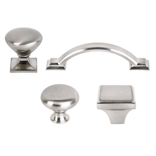 New Design Solid Bar Pull Kitchen Cabinet Door Knob Handle Brushed Satin Nickel