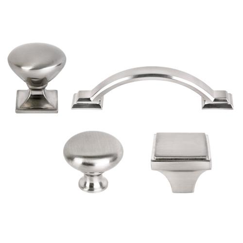 New Design Solid Bar Pull Kitchen Cabinet Door Knob Handle Brushed Satin Nickel