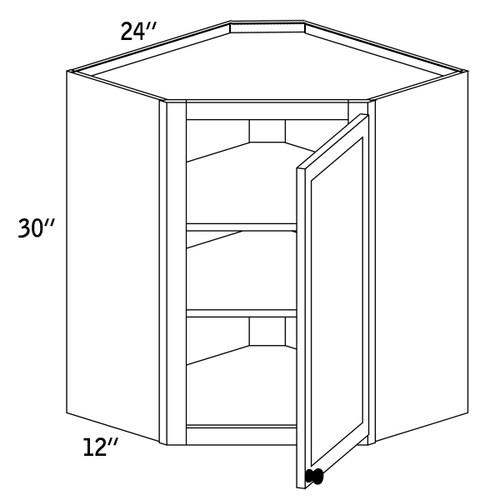WDC2430G - Wall Diagonal Cabinet Glass Door - CC9000