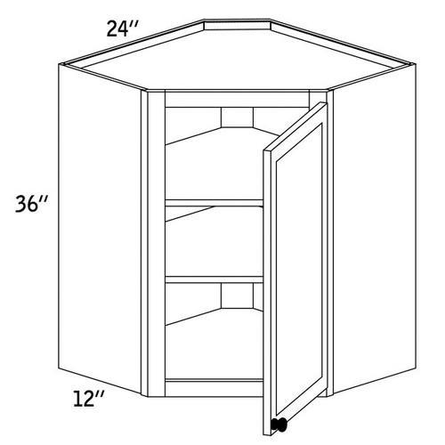 WDC2436G - Wall Diagonal Cabinet Glass Door - CC9000
