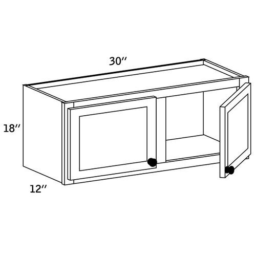 W3018 - Wall Cabinet Double Door - CC9000