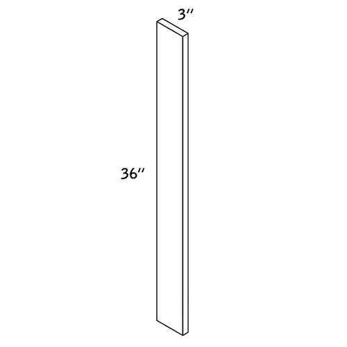 "Wall FILLER 3""Wx36""H WOOD—WF3x36-9000"