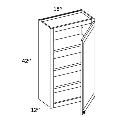 W1842 - Wall Single Door-WBG7000