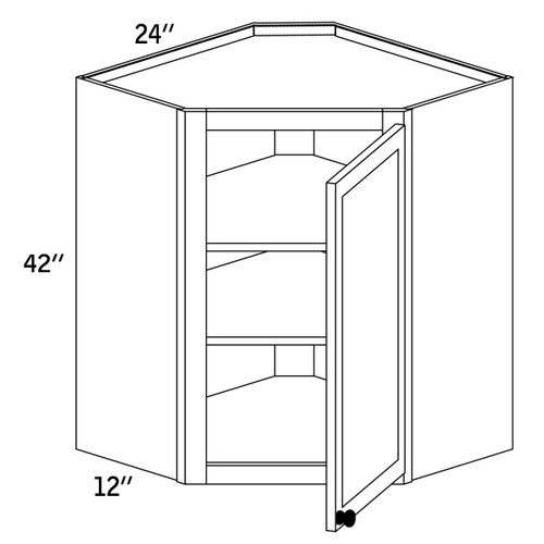 WDC2442G - Wall Diagonal Cabinet Glass Door - CC9000