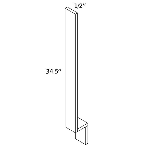 "BASE FILLER 1/2""Wx34-1/2""H WOOD—BF1.5-9000"