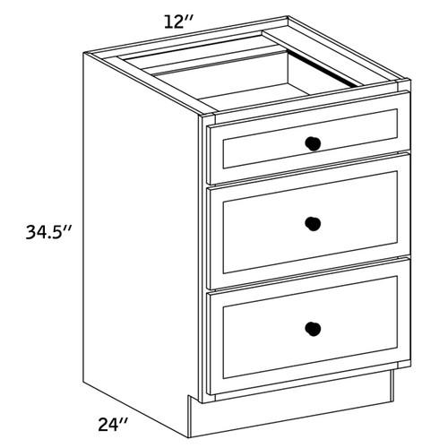BD12 - Base Three Drawer -WA4000