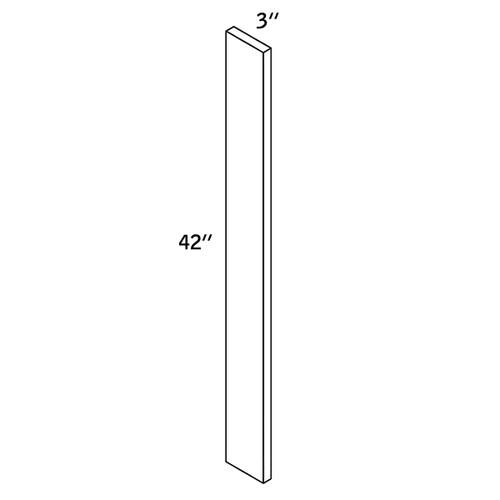 "Wall FILLER 3""Wx42""H WOOD—WF3x42-9000"