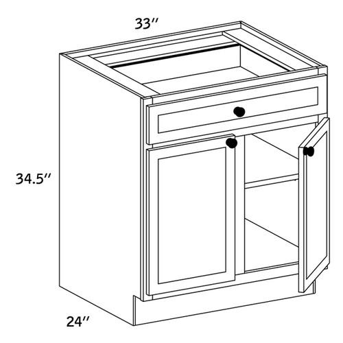 B33 - Base Double Door-WLS6000