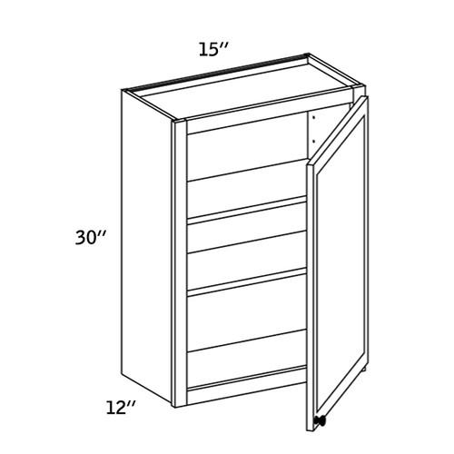 W1530 - Wall Single Door-WBG7000
