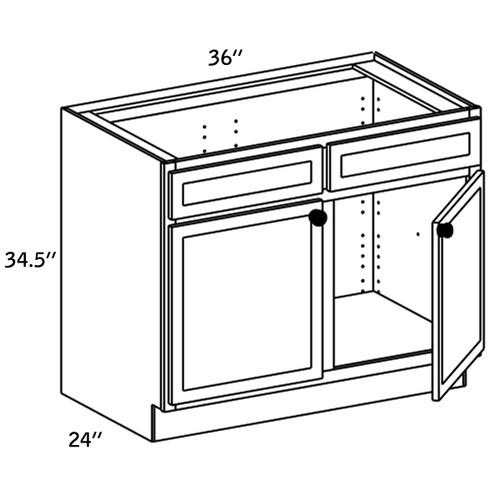 SB36 - Wood Sink Base -WBG7000