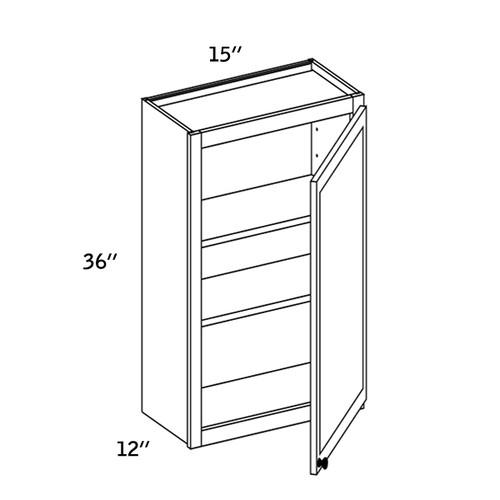 W1536 - Wall Single Door-WBG7000