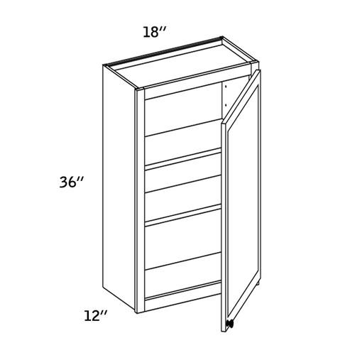 W1836 - Wall Single Door-WBG7000