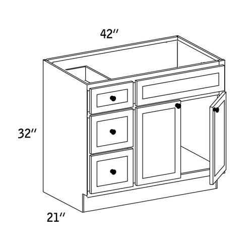 VSD4221L - Vanity Sink Base Drawer - WBG7000
