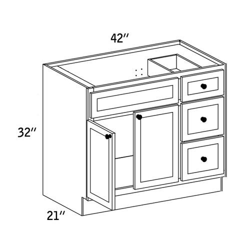 VSD4221R - Vanity Sink Base Drawer - WBG7000