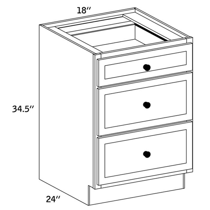 BD18 - Base Three Drawer -CC9000