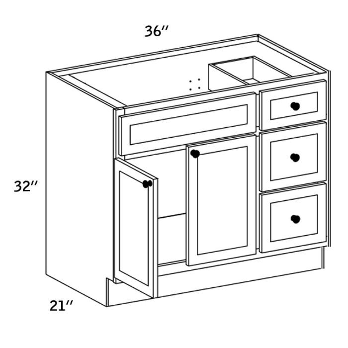 VSD3621R - Vanity Sink Base Drawer - CC9000