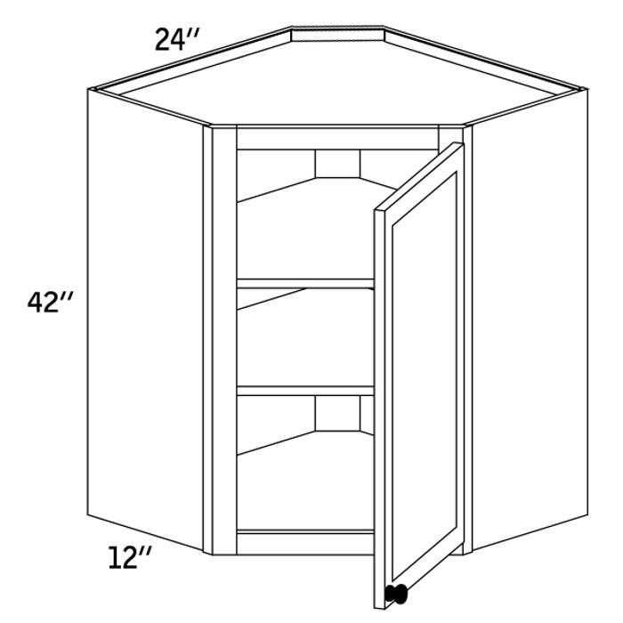 WDC2442G - Wall Diagonal Cabinet Glass Door - CMS8000