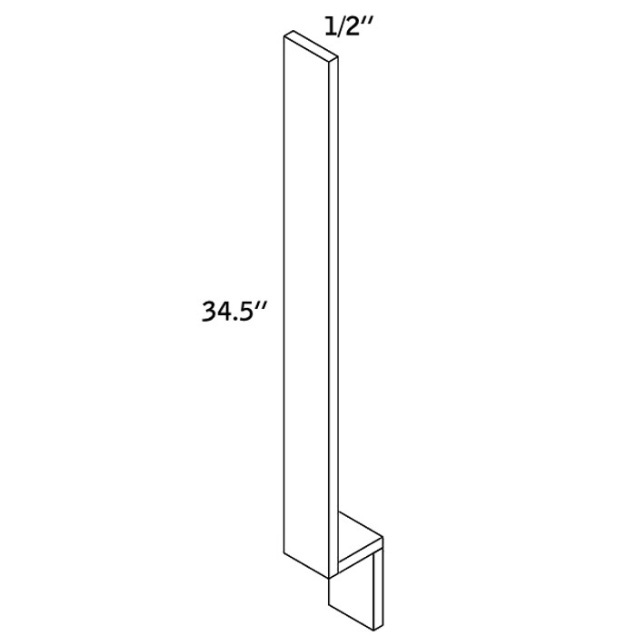 "BASE FILLER 1/2""Wx34-1/2""H WOOD—BF1.5-2000"