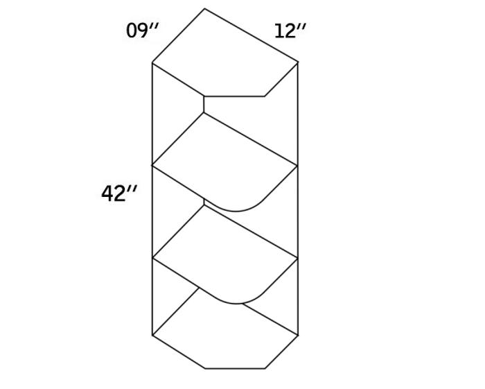 WES0942-Wall End Shelf-CC9000