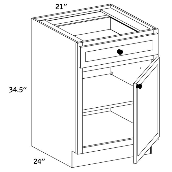 B21 - Base Single Door-WLS6000