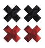 Peekaboos X Kiss Nipple Pasties - Red/Black