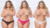 Seven Til' Midnight Lace Thongs - 1X/2X or 3X/4X