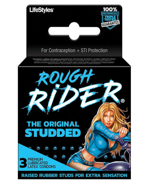Contempo Rough Rider Studded Condoms - Pack of 3