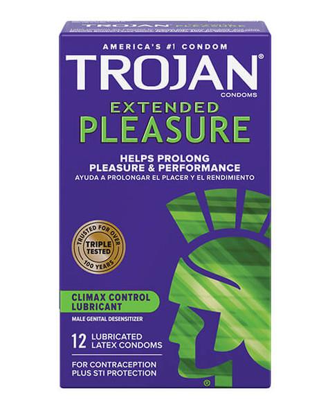 Trojan Extended Pleasure Condoms - 12 Pack