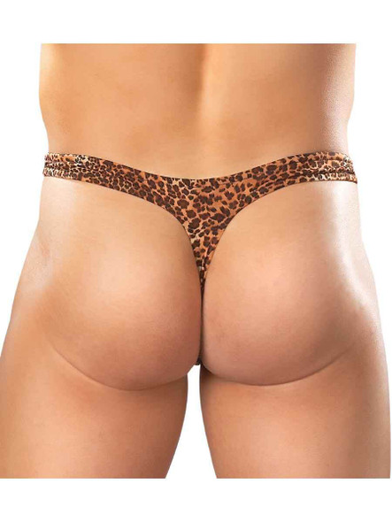 Male Power Animal Print Thong