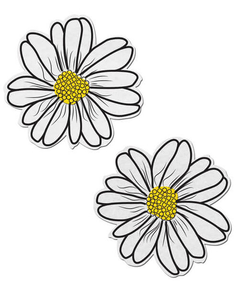 Flower Petal Pasties- White/Yellow