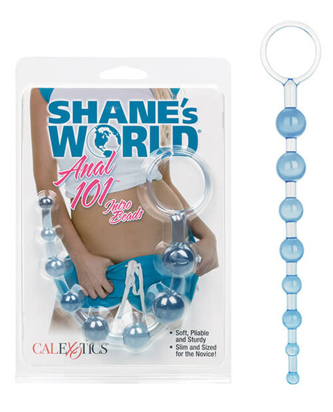 Get an A in anal with our Shane's World Anal 101 Intro Beads - Blue