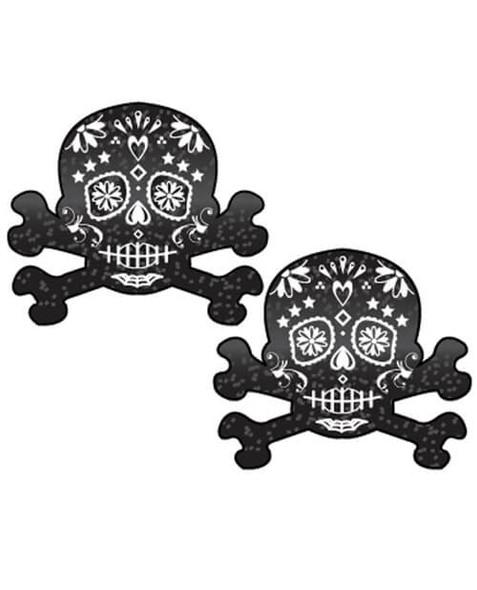 Pastease Day of the Dead Skull - Black/White