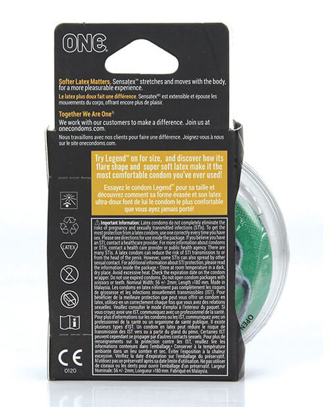 ONE The Legend XL Condom - 3 Pack