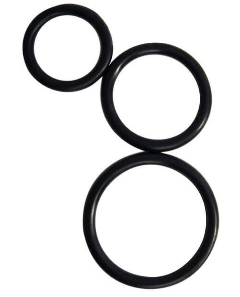 Black silicone cock rings