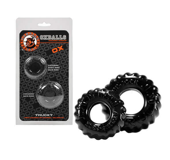 Clear Oxballs TruckT Cock & Ball Rings 2-Pack