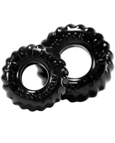 Black Oxballs TruckT Cock & Ball Rings 2-Pack from Atomic Jock